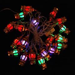 Gold Lanterns 5M 4.8W Christmas Flash 20-LED RGB Light Strip Light Lamp (EU Plug , AC 110-220V)