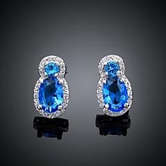 Classical Blue Zircon Earrings (1Pair)