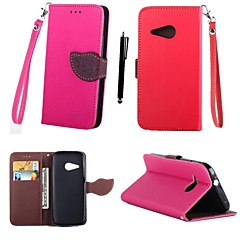 folha mistura de cores de couro TPU karzea ™ corpo inteiro com suporte e stylus para m8mini HTC (HTC One mini-2) (cores sortidas)