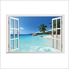 풍경 벽 스티커 플레인 월스티커 데코레이티브 월 스티커,비닐 자료 이동가능 홈 장식 벽 데칼