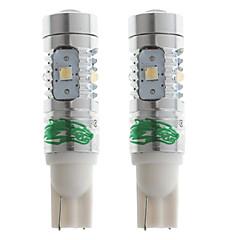 zweihnder T10 25W 2400lm 7000-7500k 5 x OSRAM SMD 3030 johti viileä valkoinen lamppu auton ajovalaisin (12-24V, 2 kpl)