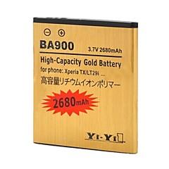 YI-YI™XPERIA TX / lt29i / XPERIA J / st26i /のXperia L / s36h / ba900用充電式2680mahの3.7Vリチウムイオン電池