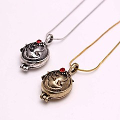 Fashion The Vampire Diaries Elena Alloy Movie Pendant Necklace(Golden,Silver)(1 Pc)