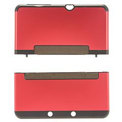 aluminio& protector de cáscara de la cubierta de plástico duro caso de la piel para la nueva consola de Nintendo 3DS