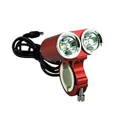 sykkel rød med lys frontlys sport lommelykt profesjonell dark knight k2e 2-ledede usa cree xml-t6 2400lm