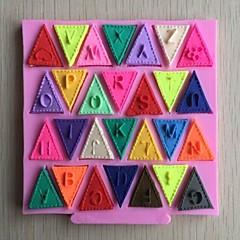 Alphabet Bunting Shaped  Fondant Cake Chocolate Silicone Mold,Cupcake Decoration Tools,L11.2cm*W10.6cm*H0.7cm