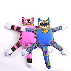 애완 동물 개 장난감 (모듬 색상)를 씹는 사랑스러운 대형 고양이 모양의 캔버스