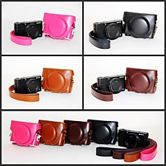 Dengpin Retro PU Leather Camera Protective Case Bag Cover with Shoulder Strap for Sony DCS-RX100II M2 RX100 III M3