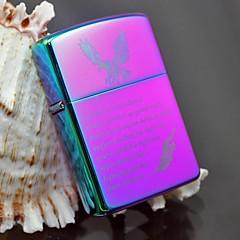 zorro lilla heldig fjer metal kobber shell olie lighter