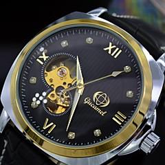 auto-mecánica del reloj Diamantes puntos de los hombres marcan los relojes automáticos de los deportes esqueleto de cuerda automática