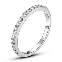 Single-row diamond ring