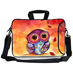 """핸들을 들고 elonbo 올빼미&13 """"macboob 프로 마력을위한 별도의 사이드 포켓과 분리 가능한 어깨 끈 노트북 가방"""