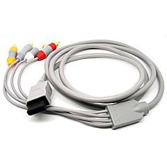 1.8m 5.904ft wii 30pin male naar s-video + 3 RCA male signaal video-audio-tv-kabel voor de wii - grijs