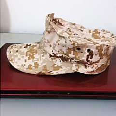 ESDY Camouflage Outdoor Fishing Windproof Polyester Shade Octagonal Cap Desert Camo