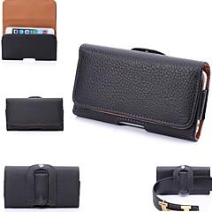 pendurar bolsas bolsa de couro pu com slot para cartão iPhone 5 / 5s