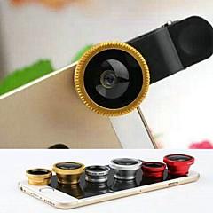 3 in 1 fisheye ja makro-objektiivi ja 0.67x laajakulmainen linssinsuojuksella ja laukku iPhone 4 / 4s / 5 / 5s / 6/6 plus
