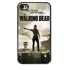 walking dead mønster aluminium hårdt etui til iPhone 4 / 4S