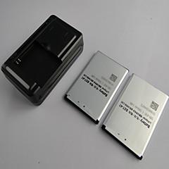 ソニーエリクソンXperia X1のX2 X10(2個入り)用充電器とBST-41の1500mAh携帯電話のバッテリー