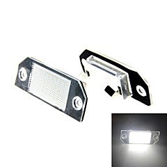 2x4W 18x3528 SMD White LED Number License Plate Light Lamp for  Focus Mk2 Pre-facelift / C-Max Mk1