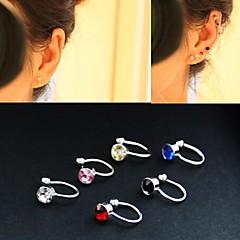 mode diamant legering øre manchet (mere farve) (1 par)