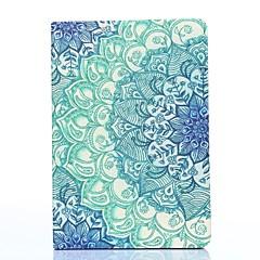 아이 패드 미니 1/2/3를위한 스탠드 파란색과 흰색 도자기 패턴 PU 가죽 전신 경우