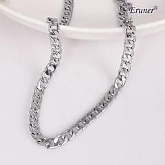 Eruner®Unisex 7MM Silver Chain Necklace NO.112