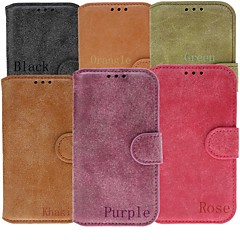 Scrub Solid Color Full Body Cases Genuine Leather Case with Slot Card for Samsung Galaxy S3 I9300 (Assorted Color)