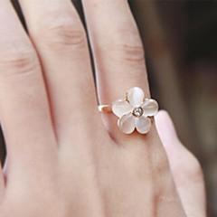 指輪 結婚式 / パーティー / 日常 / カジュアル ジュエリー 合金 バンドリング調整可 ゴールデン / クリア / ホワイト