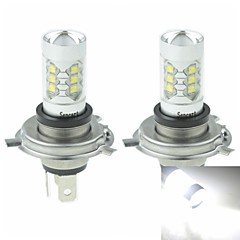 2 x H4 P43T  80W 16xCREE Cold White 4500LM 6500K for Car Fog Light (AC/DC12V-24)