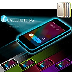Lncoming Call LED Blink Transparent TPU Back Cover Case for iPhone 4/4S (Assorted color)