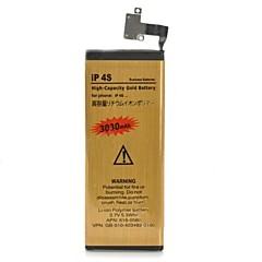 סוללת ליתיום-יון כפול תא 3030mah 3.7V קיבולת גבוהה לאייפון 4S