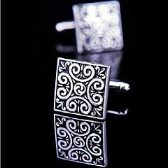 toonykelly prata cobre esmalte preto abotoaduras homens da moda (prata) (1 par)