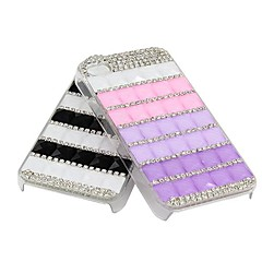 Luxury Crystal Rhinestone Diamond Bling ABS Plastic Ultralight Case for iPhone 4/4S (Assorted Colors)