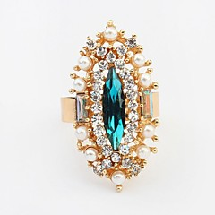 Fashion Pearl Rhinestone Exquisite Statement Rings""