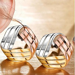 Tricolor sterling silver stud earrings