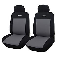 autoyouth 4 stykker / sæt bil sædebetræk universel pasform gråblå rødt materiale polyester 3mm komposit svamp