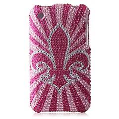 Rose Bottom Flower Bling Case PC Hard Case for iPhone 3G/3GS