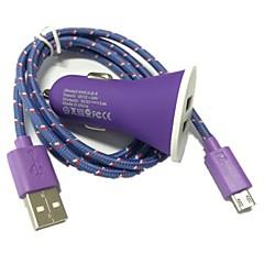1m 3.3ft 2-port usb billader og micro USB-kabel for samsung galaxy s4 s3 note 2 i9500 (assorterte farger)