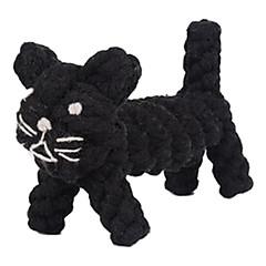 개 장난감 씹는 장난감 Rope / 고양이 직물 블랙