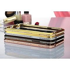 Samsung Note 2 N7100 yhteensopiva Metalliviimeistely/Erikois malli/Timanttinen kohde Metal Kännykkä puskuri/Koristekivi kännykkäkuori