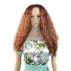 afro lang pluizig haar synthetische pruik bruin hittebestendige fiber goedkope cosplay party pruik hair