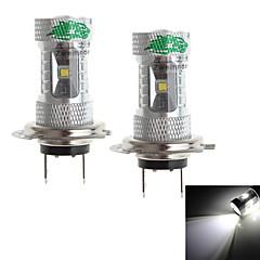 zweihnder H7 30w 2800lm 6000-6500k 6xcree XB-D weiß Glühbirne für Auto-Nebel-Lampe (12-24 V, 2 Stück)