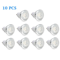 6W GU10 LED Spotlight 3 High Power LED 310 lm Warm White / Natural White AC 220-240 V 10 pcs