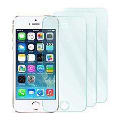 3pack 0.26mm gehard glas screen protector met microfiber doekje voor iPhone 5 / 5s / 5c