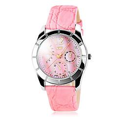 Femmes Skmei ® Fashion strass Casual cuir PU bracelet à quartz étanche 30m couleurs assorties