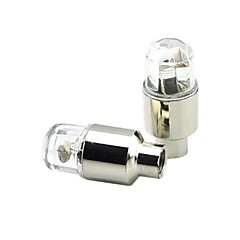 Cykellys / hjul lys / Ventilhætters blinklys Cykling alarm / baggrundslys CR2032 / AG10 / knap Batteri Lumens Batteri Cykling-FJQXZ®