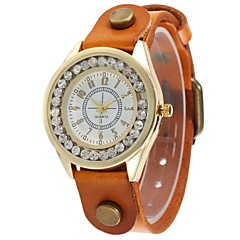 Women's Vintage Style Diamond Case PU Leather Band Wristwatch (Assorted Colors) Cool Watches Unique Watches