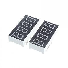 4 chiffres anode et la cathode led rouge voltmètre numérique - 0,56 (x2)