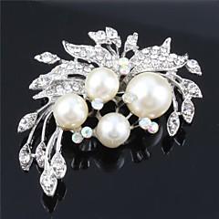 kvinder perler cz krystal bryllup broche for birde