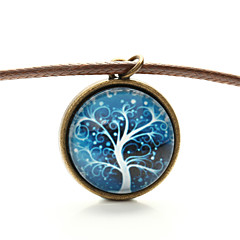 Vilam® Peace Tree Frozen Snow Tree Time Gem Cabochon Necklace